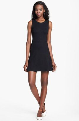 Theory Nikay Parcel Herringbone Tweed V-Neck Dress | V