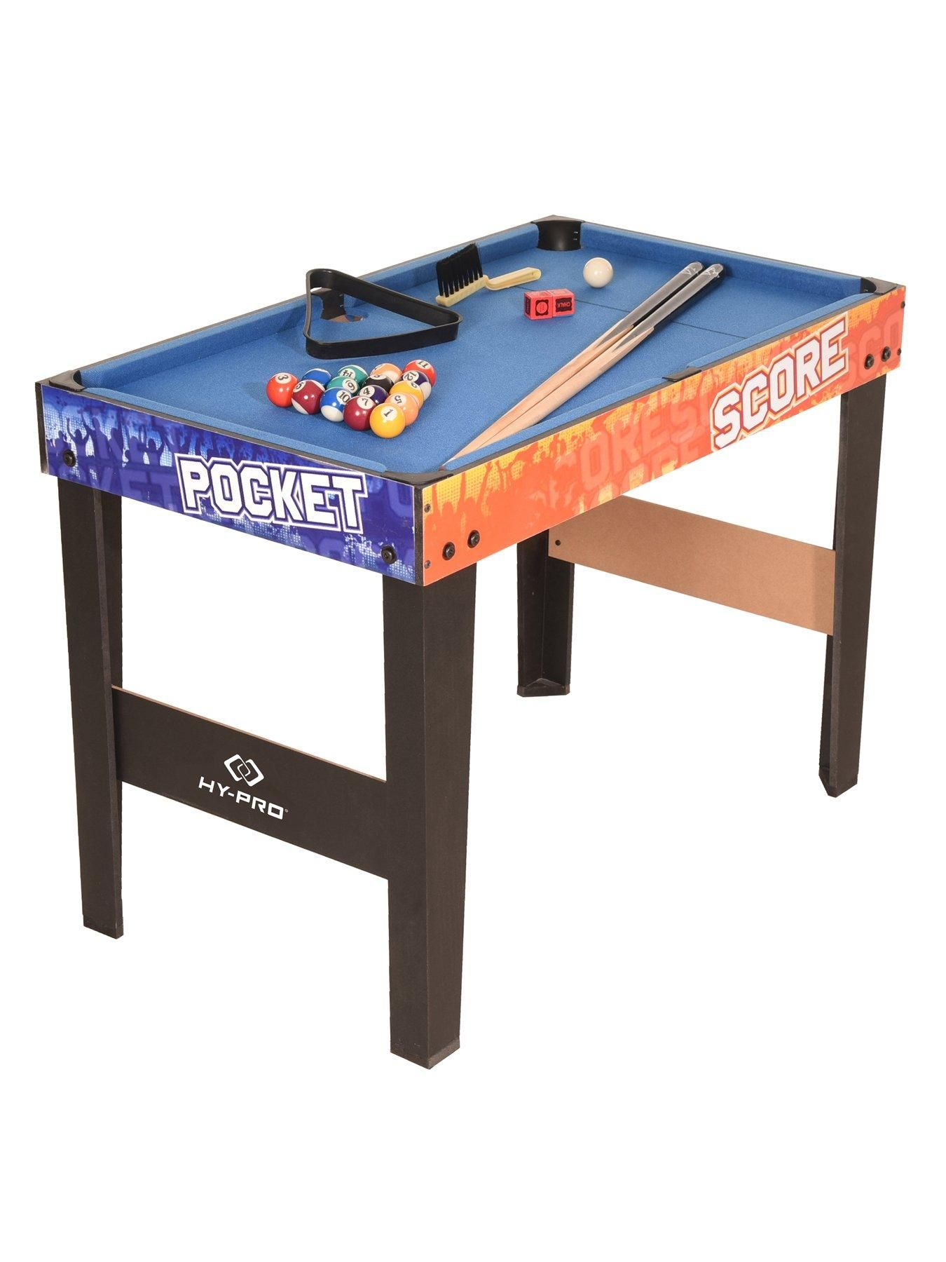 MD Sports 48 Inch 12 in 1 Multi Combo Game Table Set with Billiards Air Powered