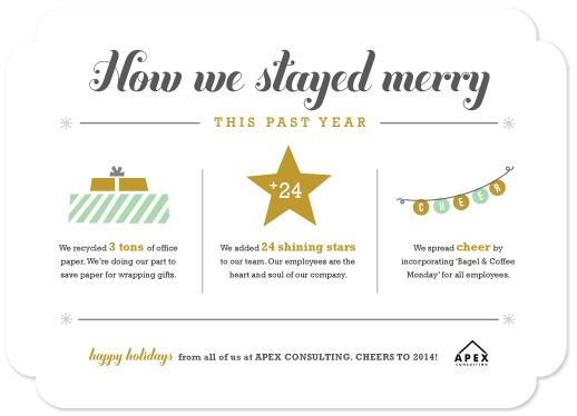 Business holiday cards how we stayed merry year in review by business holiday cards how we stayed merry year in review by carolyn maclaren colourmoves