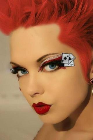 Queen Of Hearts Kit Eye Kit W/Rhinestone #lashes #eyes #makeup #costume #halloween #gamble #cards #poker