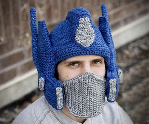 Transformers Crocheted Optimus Prime Helmet | Products You Should ...