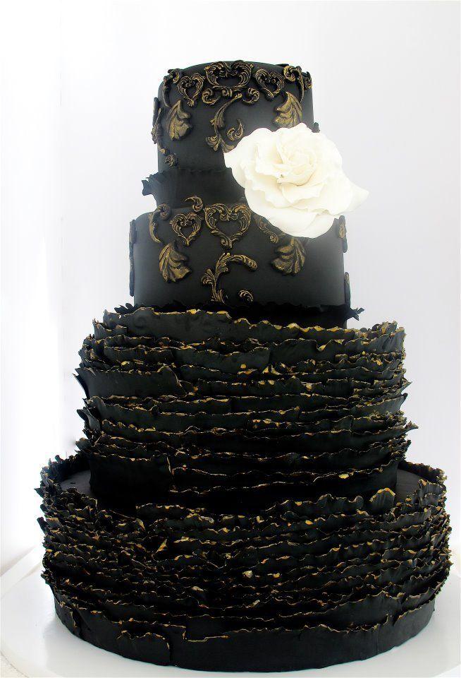 {Divine} black wedding cake | by Maggie Austin Cake