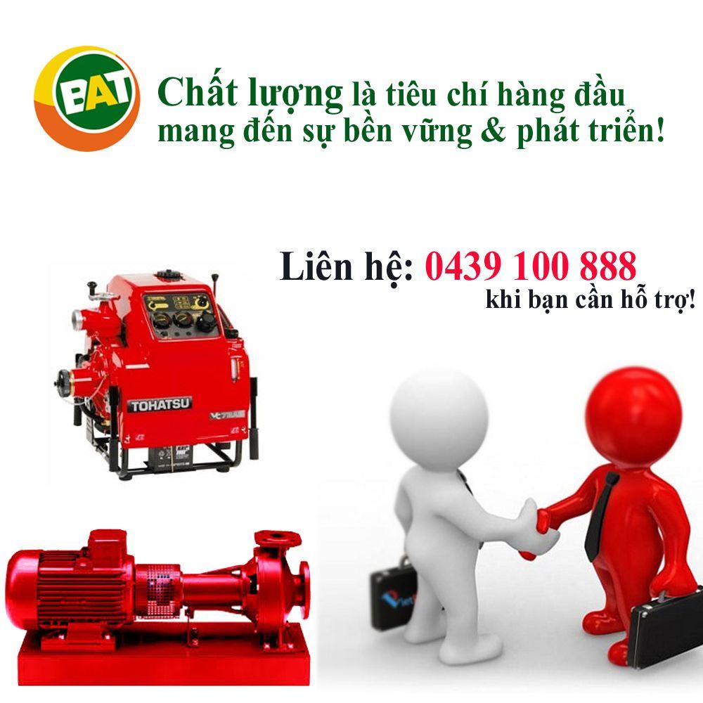 Máy bơm cứu hỏa được chứng nhận chất lượng quốc tế ISO