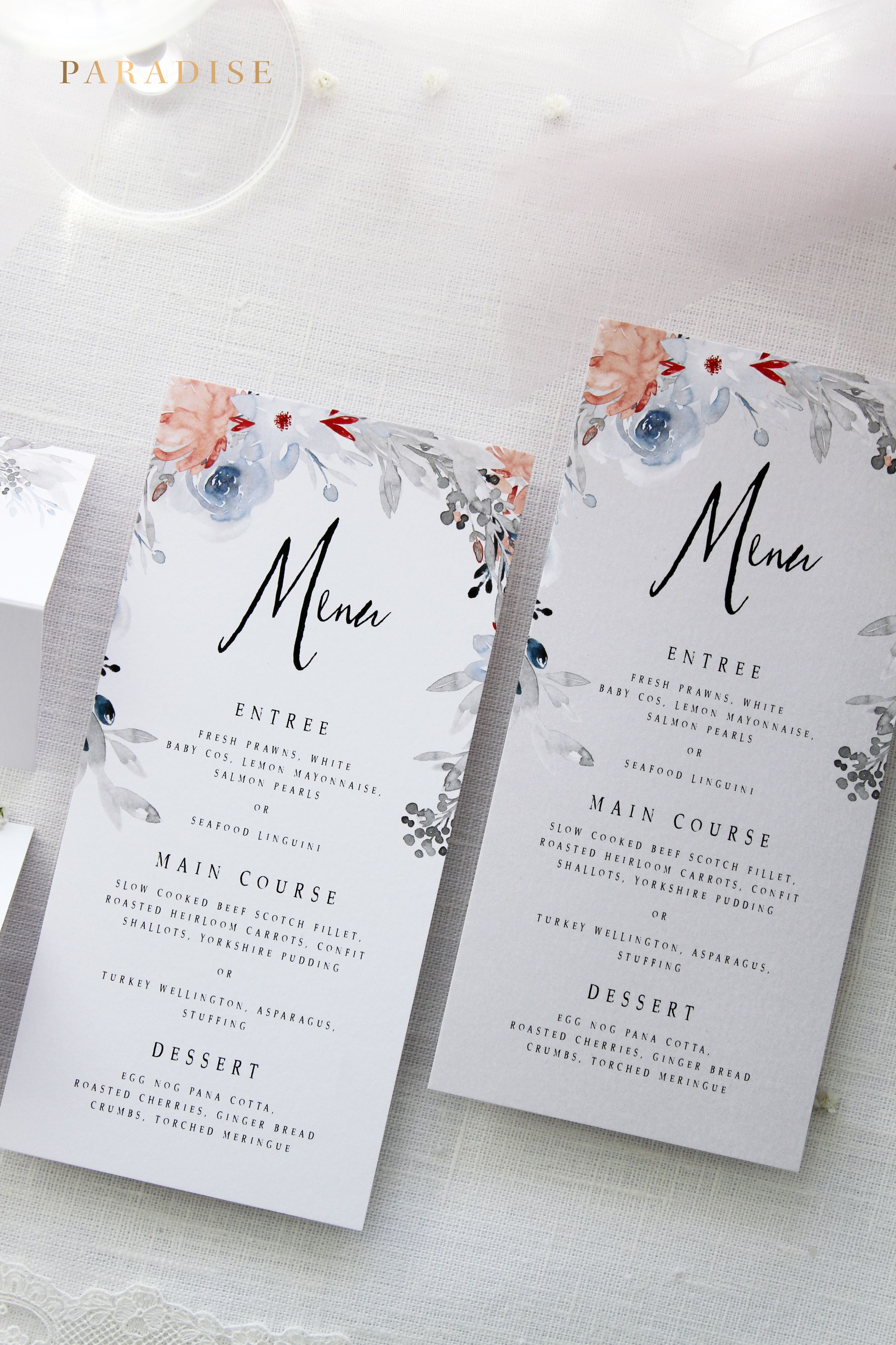 Janessa 2 MENUS, Printable Menus or Printed Menus, Menus for All ...
