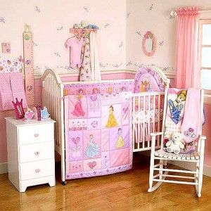 Disney Princess Crib By Summer Infant Princess Cheap Nursery Crib Bedding Set For Your Baby Di Disney Baby Nurseries Baby Girl Room Baby Nursery Themes