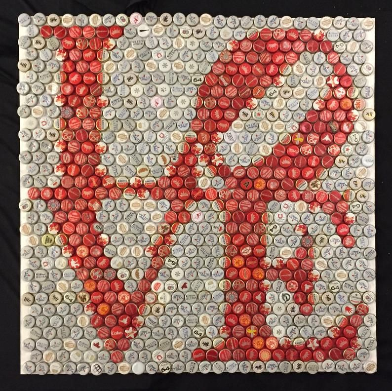 LOVE Bottle Cap Mosaic