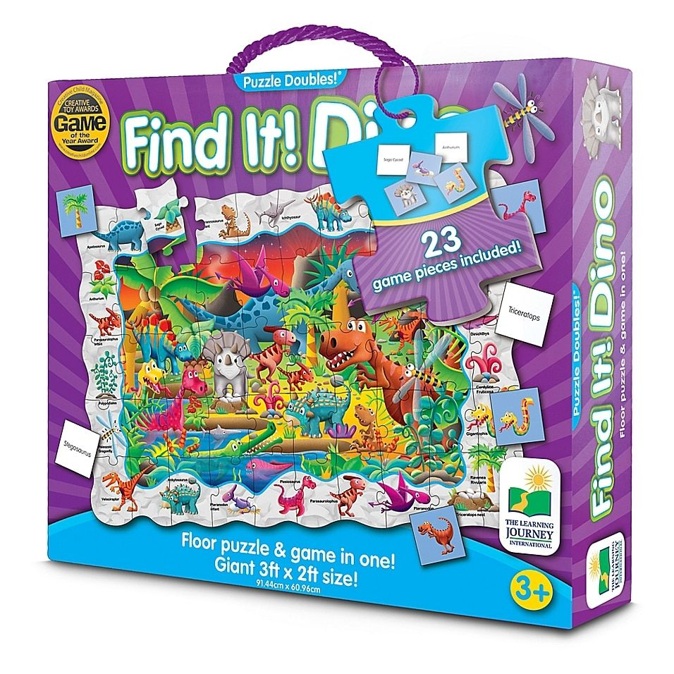 The Learning Journey Find It! Dinosaurs Doubles! Puzzle Multi