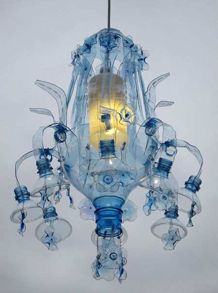 Chandelier Light Made Of Upcycled Pet Plastic Bottles By Veronika Richterová