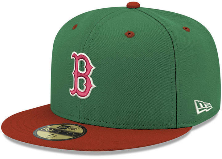 reputable site 43e7f 4eff4 New Era Boston Red Sox Green Red 59FIFTY Fitted Cap