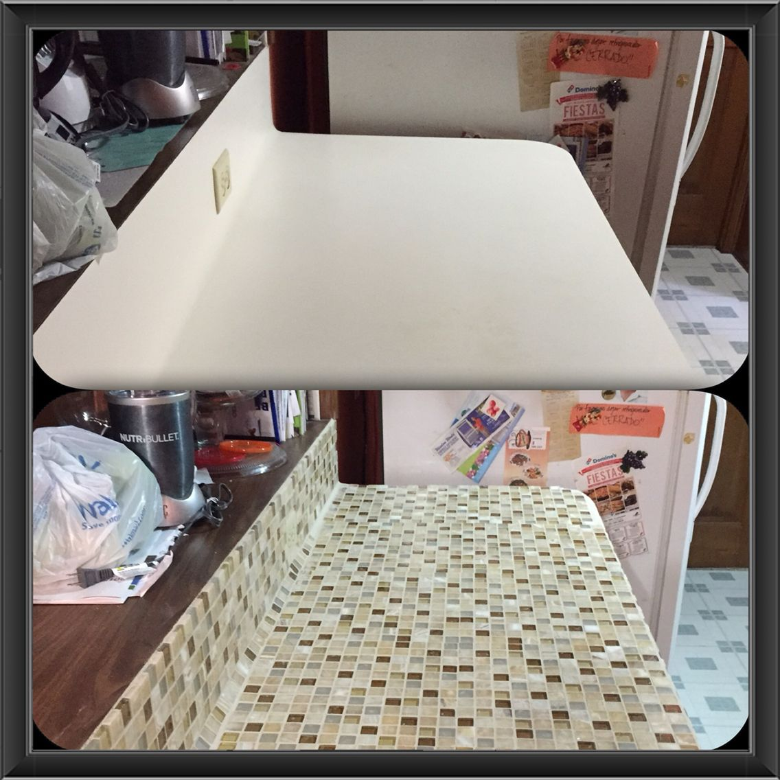 DIY kitchen Counter remodeling I spent for each 12x12