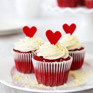 Cupcakes Rojos con Betún de Queso Crema