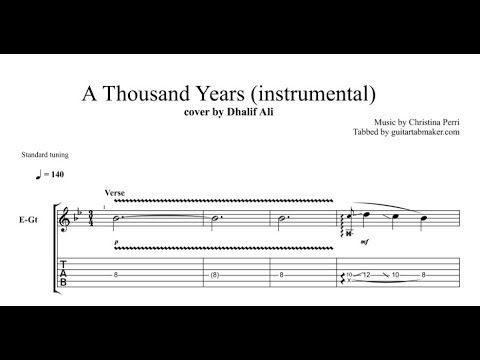 A Thousand Years electric guitar tab - pdf guitar tab download ...