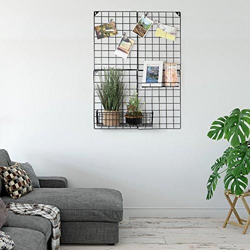 """Photo of Wall Grid Panel with Grid Baskets 32.68"""" x 23.82"""""""