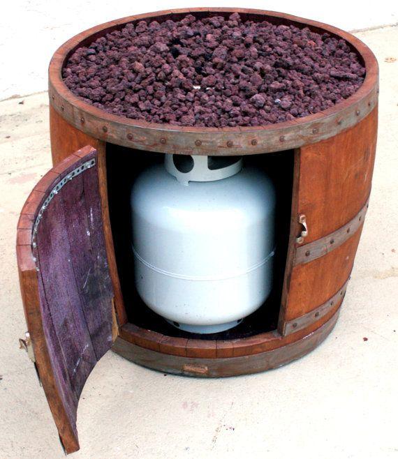 Wine barrel fire pit by smoketreebarrelco on etsy for Wine barrel chair diy