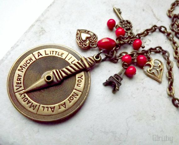Valentines Day Necklace Love Pendant With Spinning Dial by lilruby, $36.00