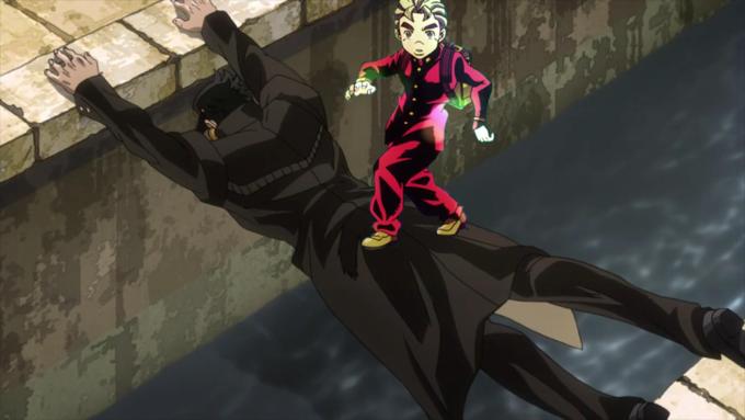 No Wonder Jotaro Bumped Into Him Koichi Pose Jojo Bizarre Jojo S Bizarre Adventure Jojo Bizzare Adventure