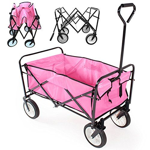 World Pride Collapsible Foldable Utility Cart Garden Wagon