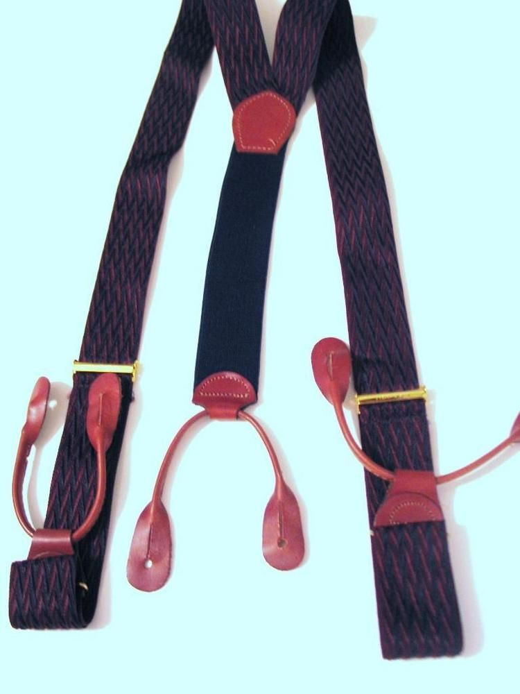 """Lures on Blue 1.5/"""" XL Men/'s Made in the USA New Suspenders // Braces Adj"""