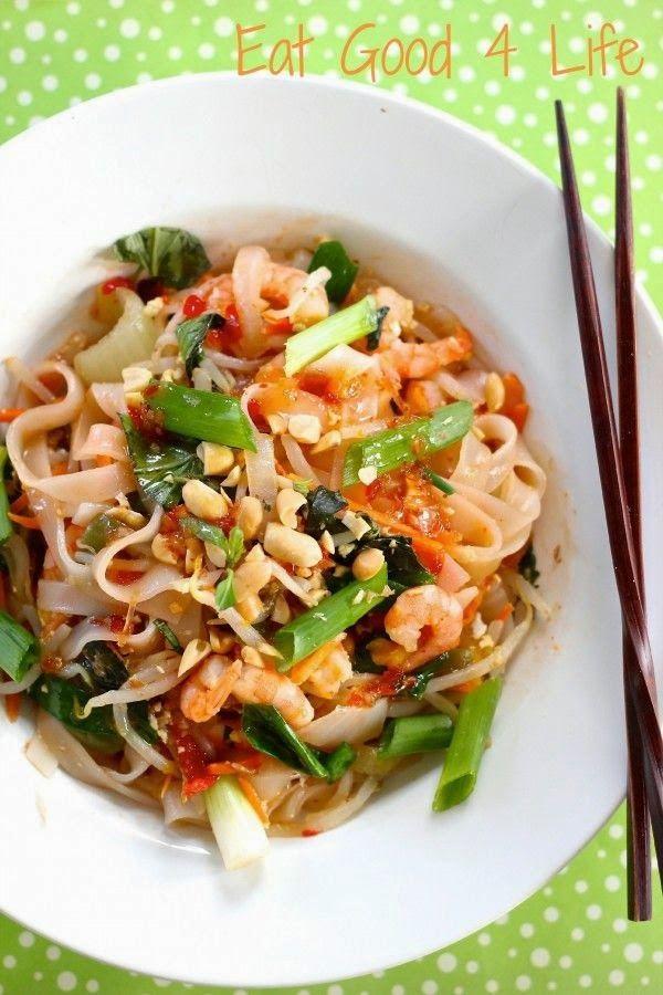 Drunken noodles with shrimp Recipe