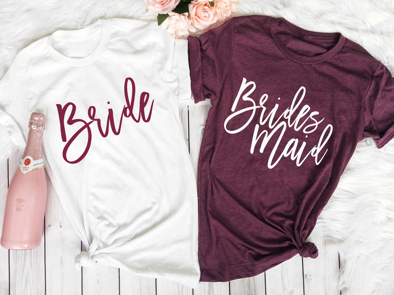 Bridesmaid gift Bride and Bride Squad Bachelorette party shirt bridal party shirts  bridesmaid t-shirt bridesmaid proposal