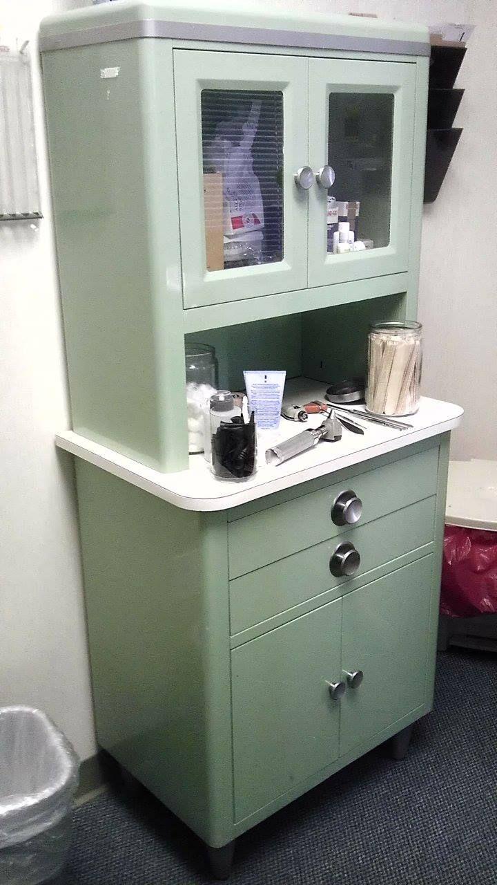 Antique Metal Dental Cabinet Vintage Medical Cabinet Vintage Metal Glass Door Medical