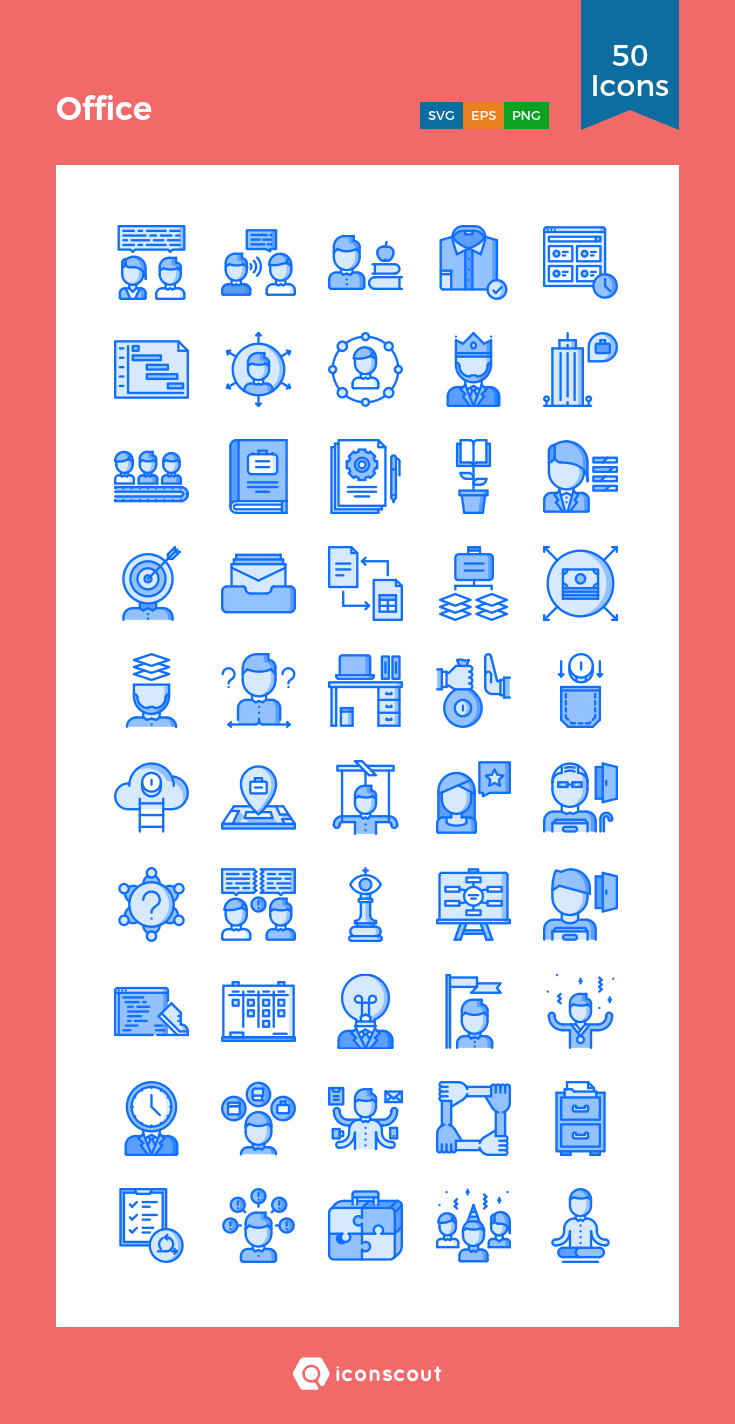 Download Office Icon Pack - 50 Filled Outline Icons | Icon pack ...