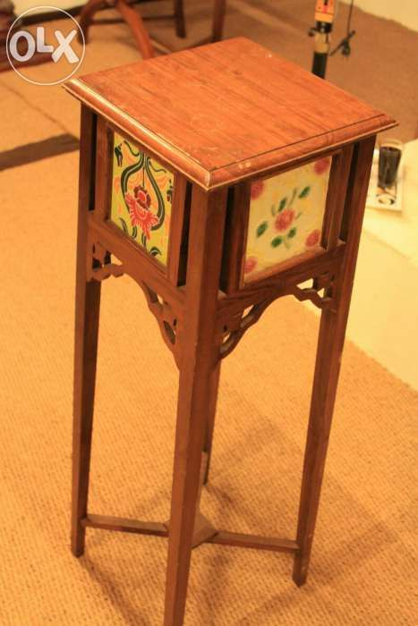 Antique teak wood side stand from Kerala with Karaikudi