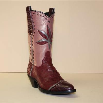 572c322b332 Lugus Mercury Fancy Cowboy Boot of Burgundy Pin Ostrich - This ...