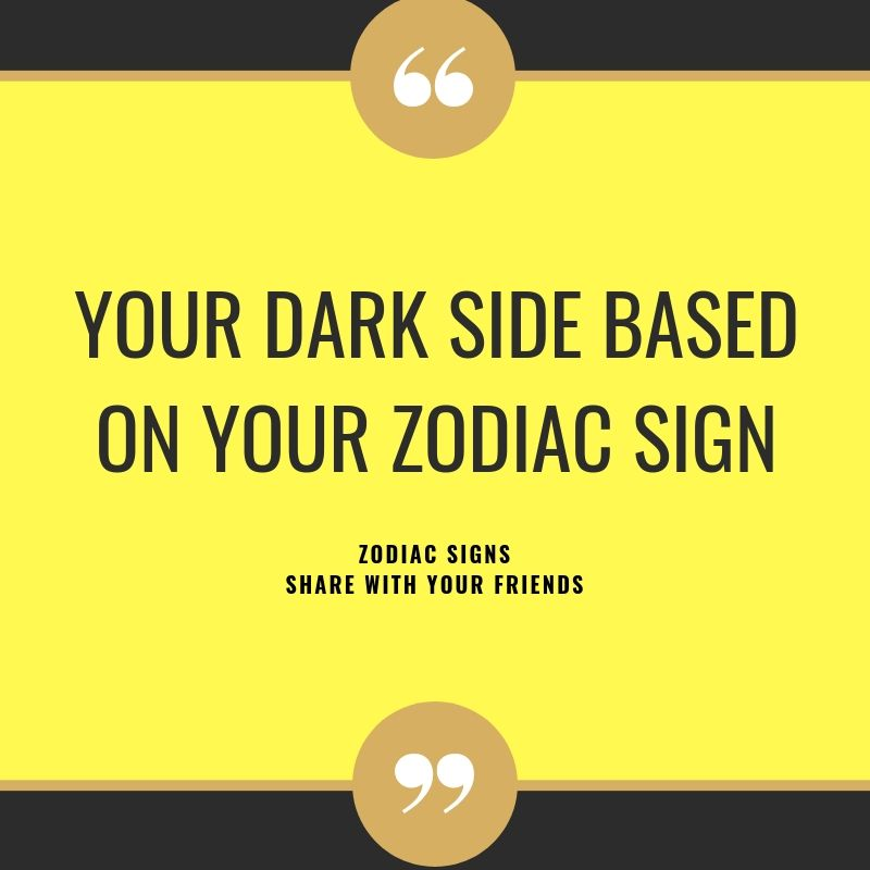 Your Dark Side Based On Your Zodiac Sign Zodiacidea Zodiacsigns Astrology Horoscopes Zodiaco Zodiac Signs Zodiac Sign Love Compatibility Aquarius Facts