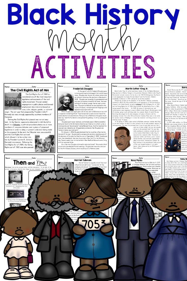 Pin by Cultivating Lifetime Learners on Best of Teachers Pay Teachers for  Elementary (K-6)   Black history month activities [ 1102 x 735 Pixel ]
