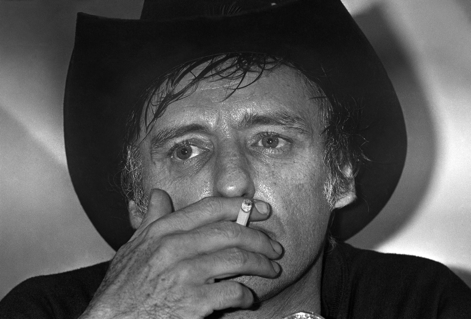 Dennis Hopper at the film festival for the presentation of Canadian entry 'Out of the Blue', 1980. AP Photo
