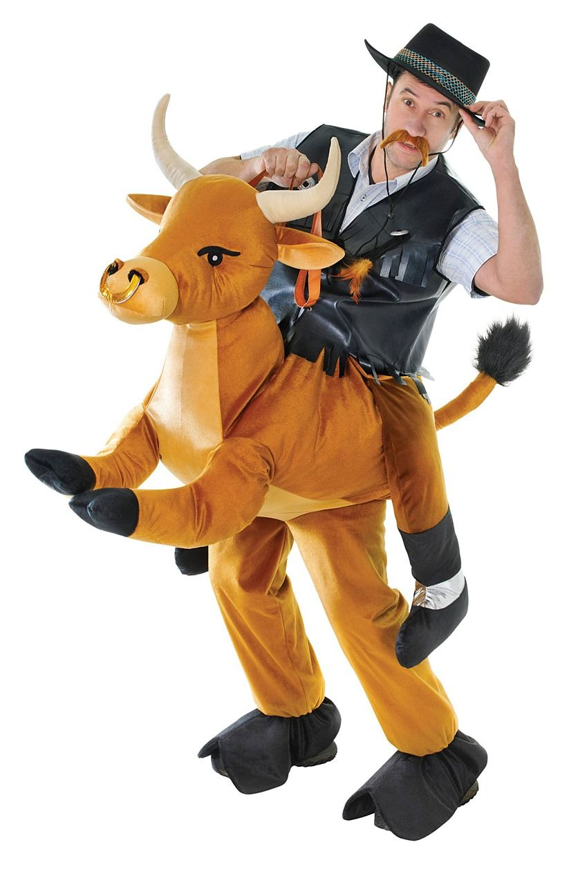 Mens Ladies Bull Cow Mascot Animal Festival Stag Do Fancy Dress Costume Outfit