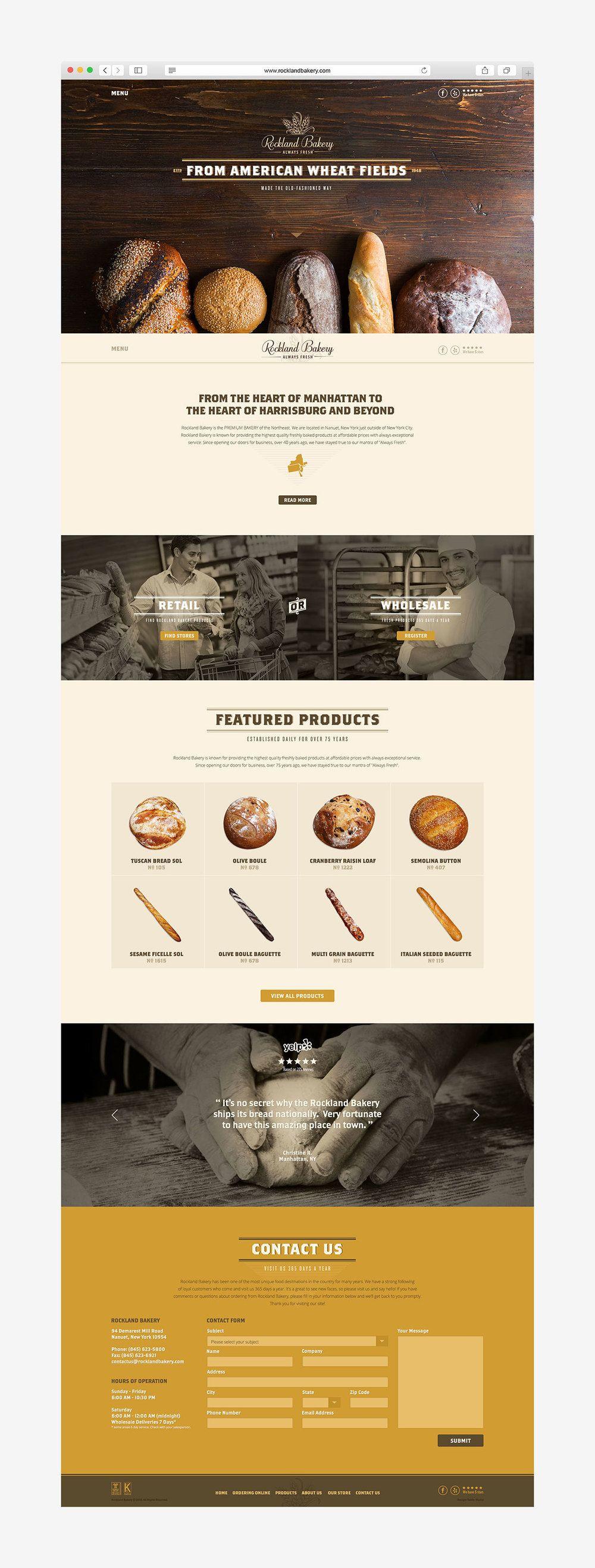 Before After Rockland Bakery Bakery Website Bakery Design Bakery
