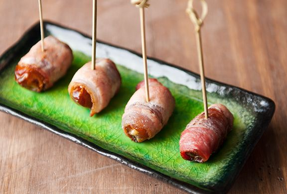 bacon-wrapped boursin-stuffed dates recipe | use real butter