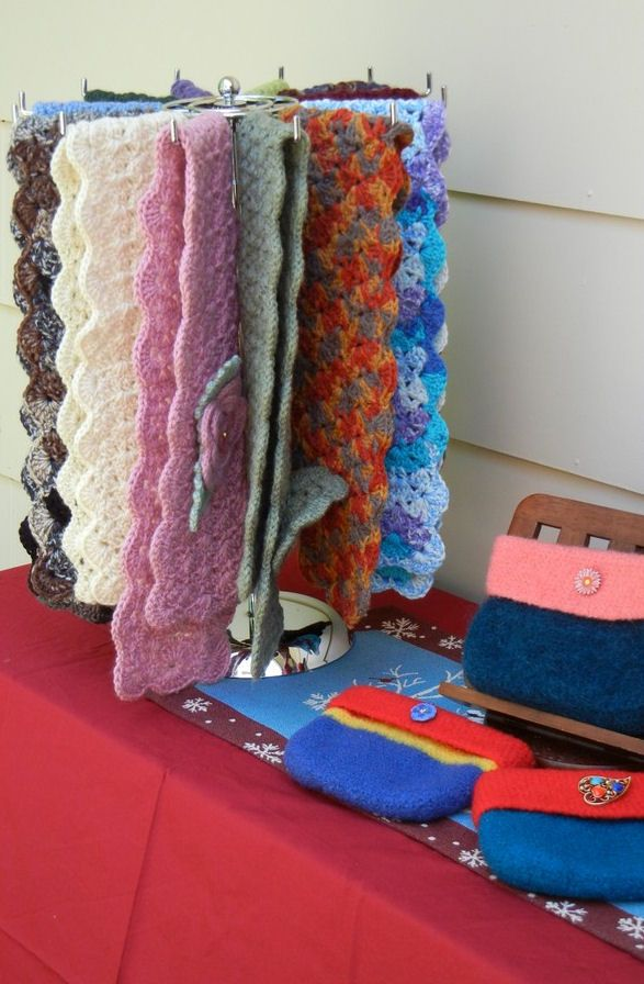 Rotating Scarf Rack Craft Shows And Displays Pinterest