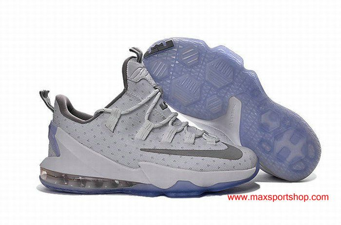 41b66b4a03b16 2016 LeBron XIII Low White Grey Mens Basketball Shoes