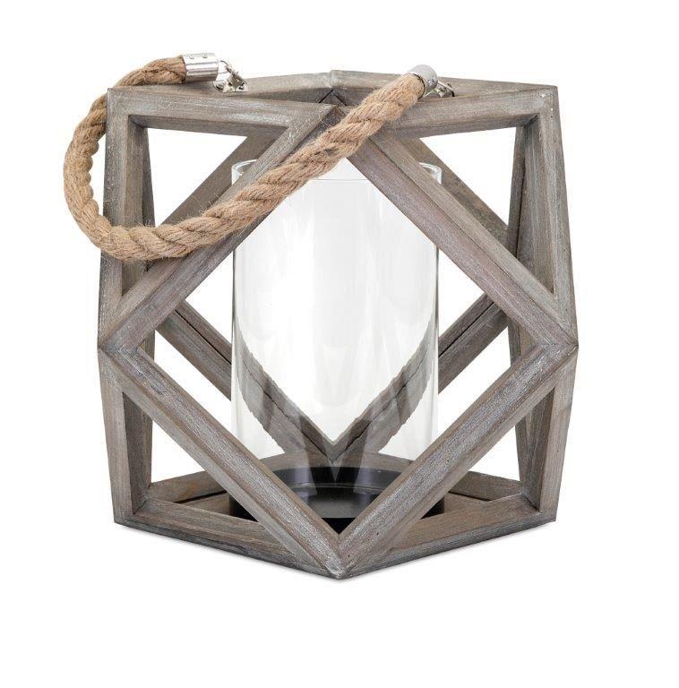 Ares Wood Lantern Large Wood Lantern Glass Pillar Candle Wooden Lanterns