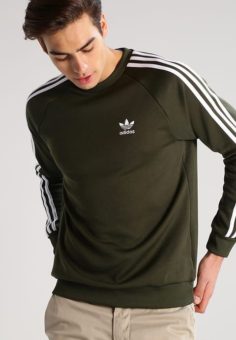 Joggingbroek Zalando.Kleding Adidas Originals Sweater Olive Olijf 51 95 Bij Zalando