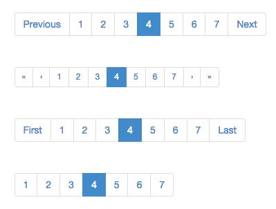 bootstrap pagination | UI Patterns | Ui patterns, Ui ux