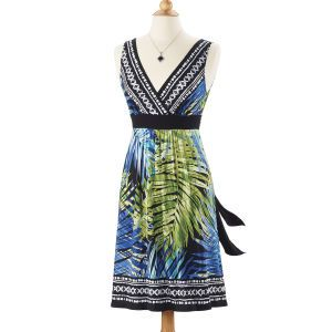 Tropical Leaves Sleeveless Dress - Women's Clothing, Jewelry, Fashion Accessories & Gifts for Women with a Flair of the Outdoors | NorthStyle