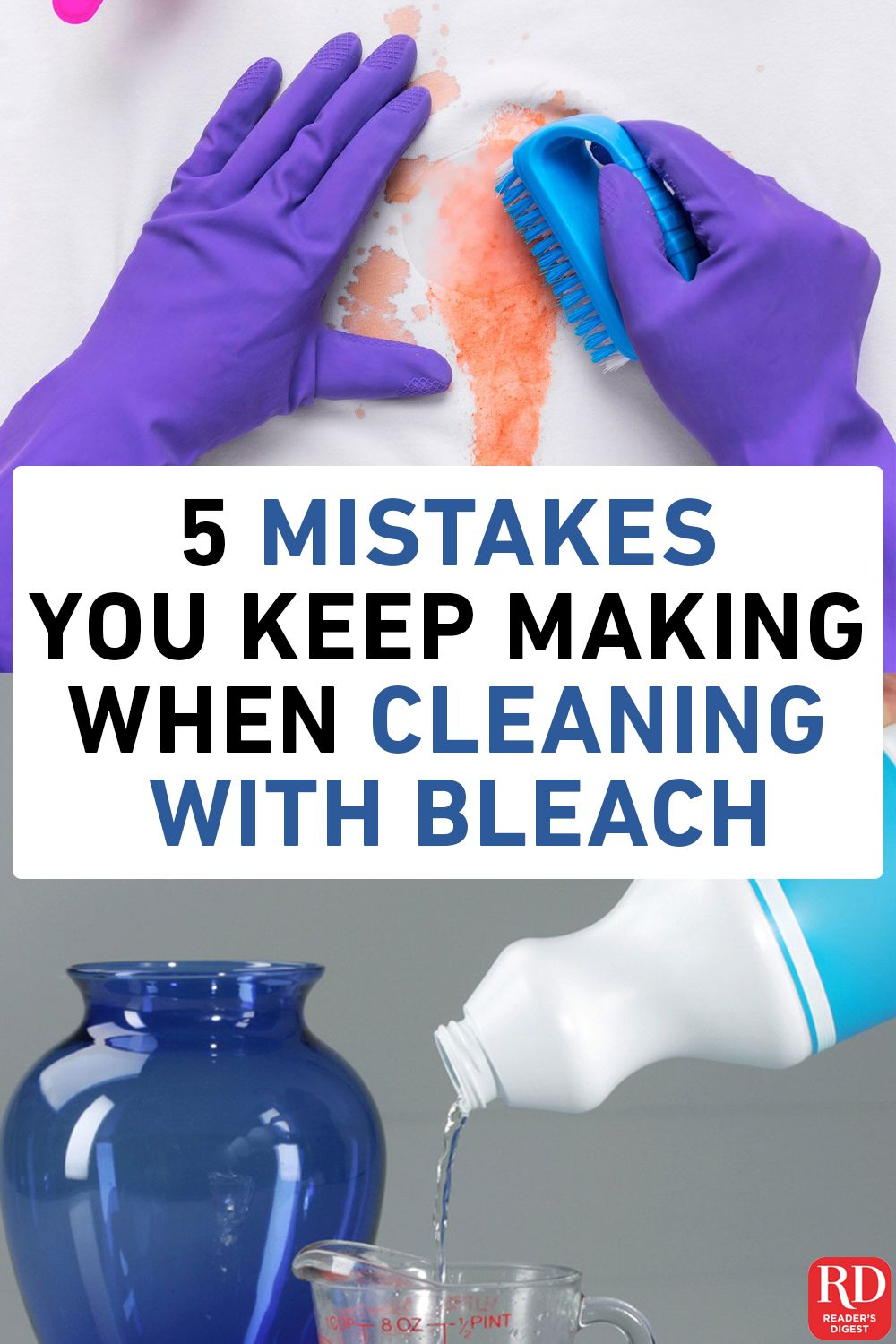 5 Mistakes You Keep Making When Cleaning with Bleach
