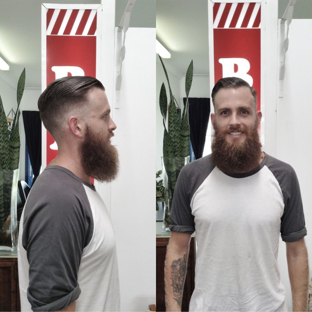 Barber. Mens haircut. High and tight. Short back and sides ...
