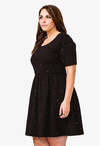 Sequined Bouclé Dress | FOREVER 21 - 2021839472