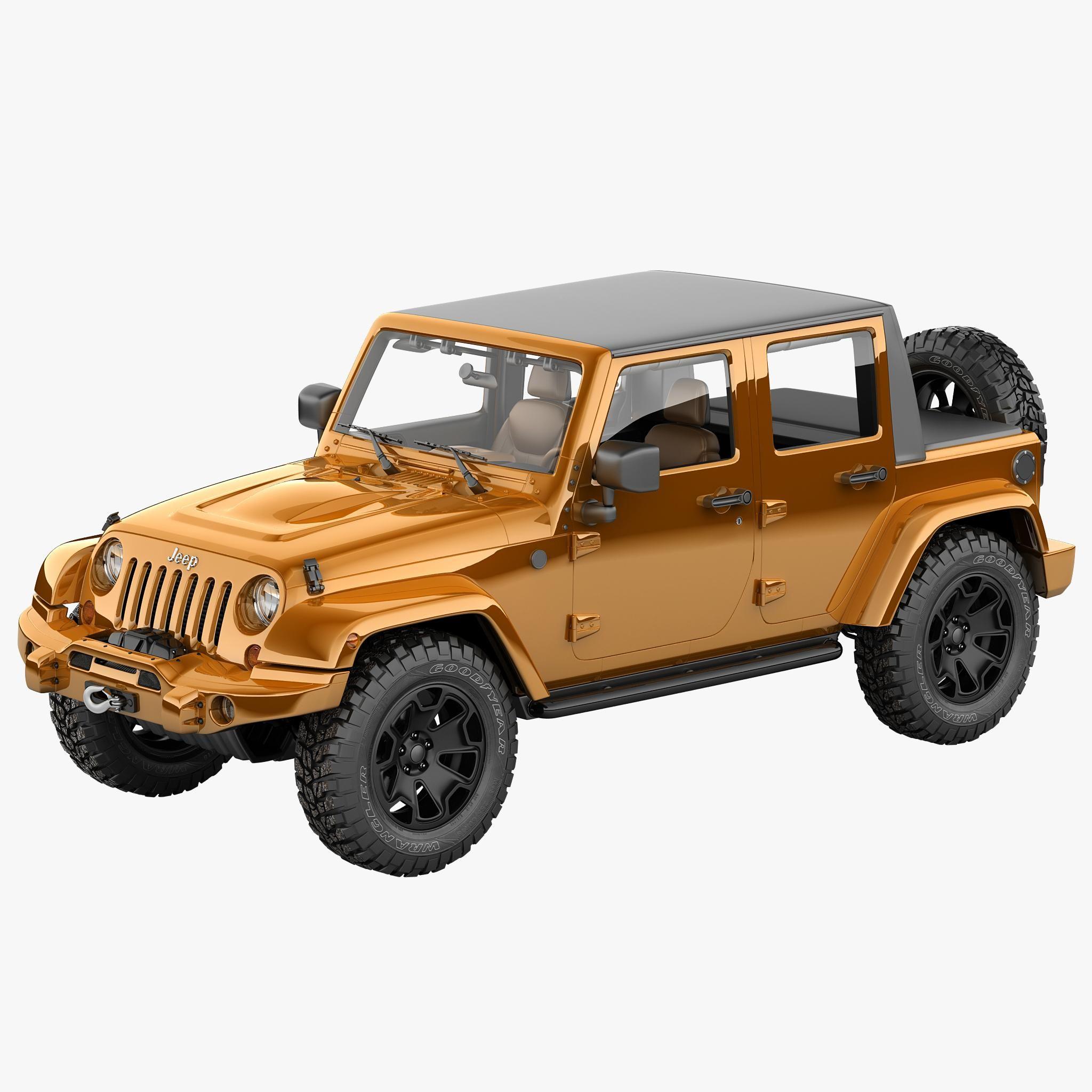 Jeep Wrangler Moab Half Pickup 3d Model Ad Wrangler Jeep Moab Model Jeep Wrangler Jeep Jeep Models