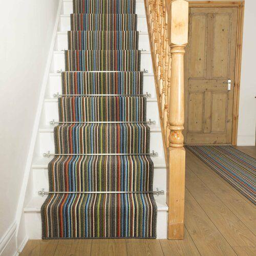 Photo of Baltes Indoor / Outdoor Teppich in Grau Brayden Studio Teppichgröße: Läufer, 66 cm x 450 cm