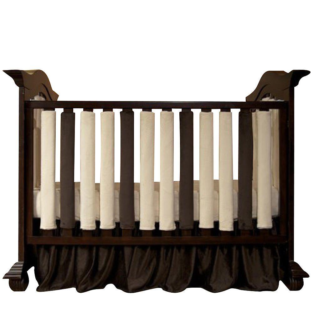 Crib alternatives for babies - Go Mama Go Safe Alternative Wonder Bumpers 38 Pack Cream Chocolate Crib Bumpersbaby