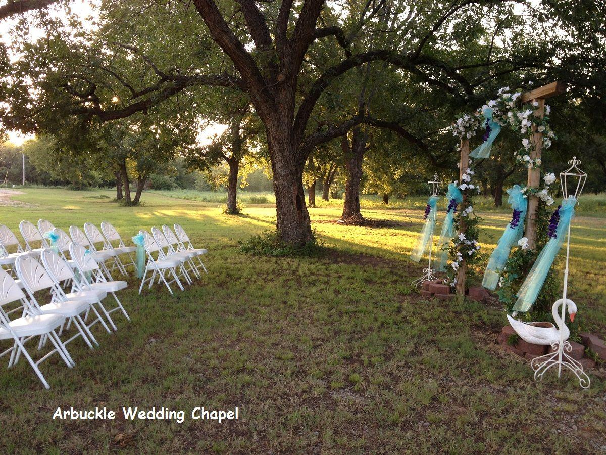 Outdoor Wedding Arbuckle Chapel Oklahoma Kfor