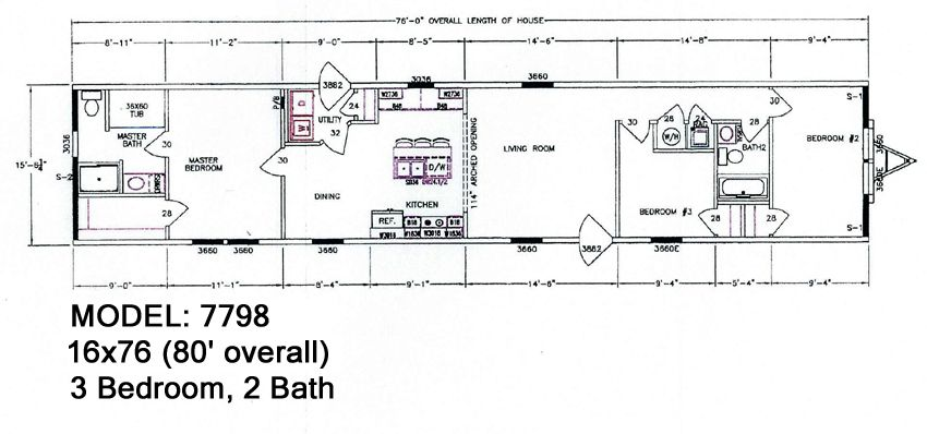 MCCANTS MOBILE HOMES 694 Hwy 61 model 7798 4 Specs Page