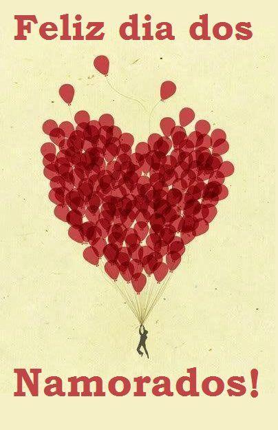 Feliz Dia Dos Namorados Pro Namorado Luftballons Herz