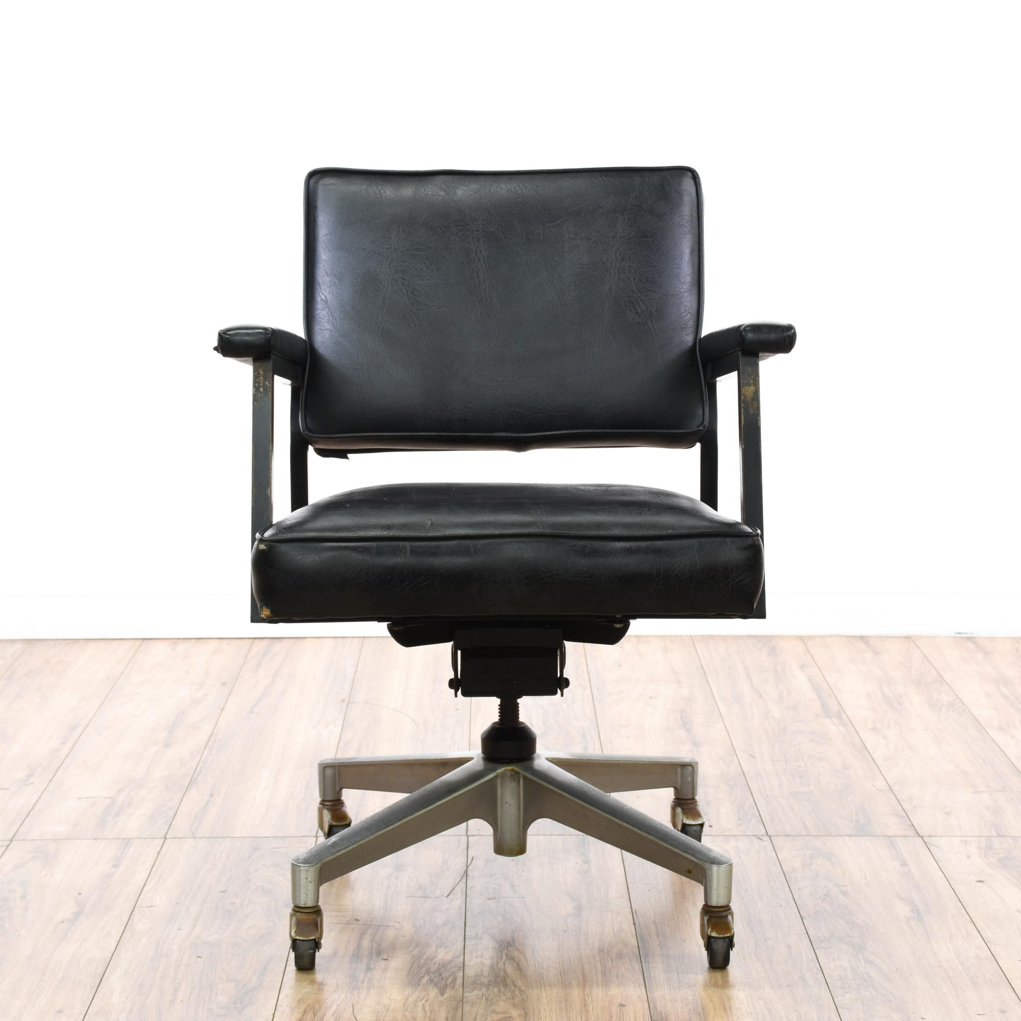 "This ""Nelson Thomas"" office chair is upholstered in a durable"